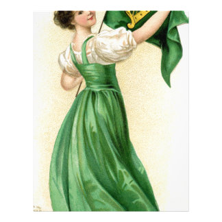 Original poster of St Patricks Day Flag Lady Letterhead