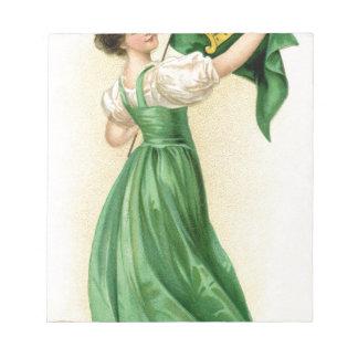 Original poster of St Patricks Day Flag Lady Notepad