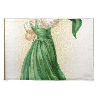 Original poster of St Patricks Day Flag Lady Placemat