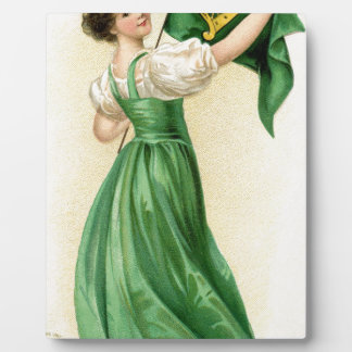 Original poster of St Patricks Day Flag Lady Plaque