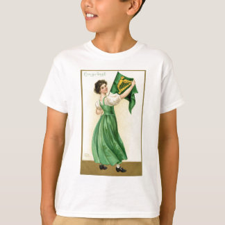 Original poster of St Patricks Day Flag Lady T-Shirt