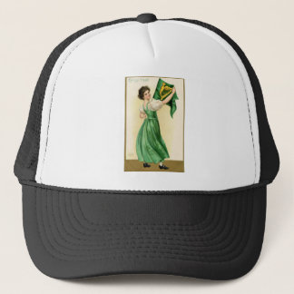 Original poster of St Patricks Day Flag Lady Trucker Hat