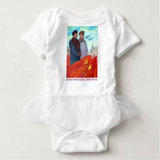 Original propaganda Mao tse tung and Joseph Stalin Baby Bodysuit