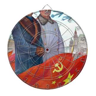 Original propaganda Mao tse tung and Joseph Stalin Dartboard