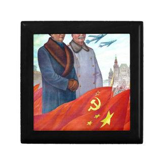 Original propaganda Mao tse tung and Joseph Stalin Gift Box