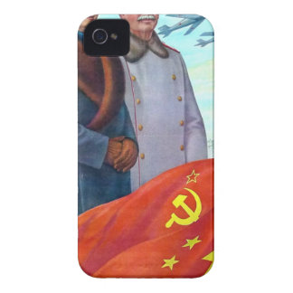 Original propaganda Mao tse tung and Joseph Stalin iPhone 4 Case-Mate Cases