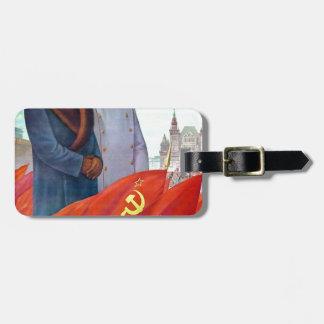 Original propaganda Mao tse tung and Joseph Stalin Luggage Tag