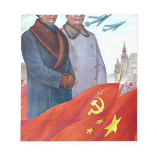 Original propaganda Mao tse tung and Joseph Stalin Notepad