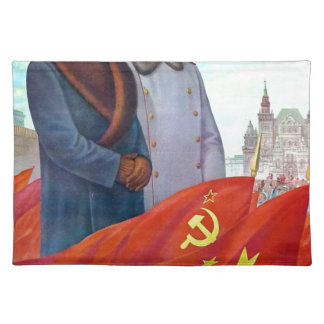 Original propaganda Mao tse tung and Joseph Stalin Placemat
