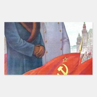 Original propaganda Mao tse tung and Joseph Stalin Sticker