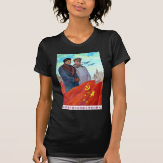 Original propaganda Mao tse tung and Joseph Stalin T-Shirt