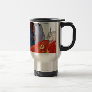 Original propaganda Mao tse tung and Joseph Stalin Travel Mug