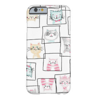 Original quirky hand drawn cat design barely there iPhone 6 case