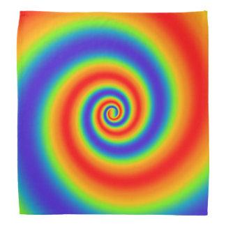 Original Rainbow Gradient Colorful Spiral Effect Bandana