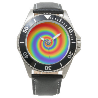 Original Rainbow Gradient Colorful Spiral Effect Watch