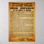 Original Re-Print Irish Proclamation Easter 1916 Poster