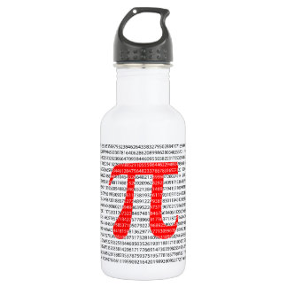 Original red number pi day mathematical symbol 532 ml water bottle
