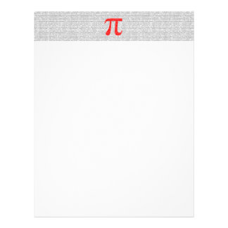 Original red number pi day mathematical symbol letterhead