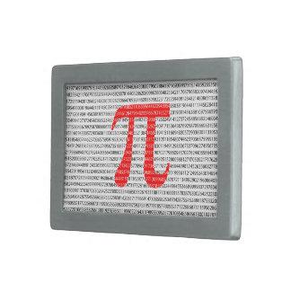 Original red number pi day mathematical symbol rectangular belt buckle
