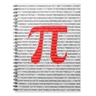 Original red number pi day mathematical symbol spiral notebook