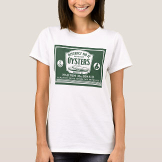 Original Retro Cape Breton Oysters Label T-Shirt