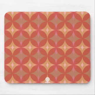 Original retro circles/diamonds in red mouse pad