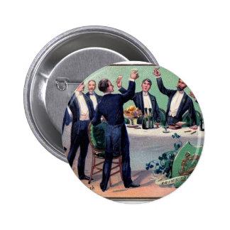 Original Saint patrick's day drink vintage poster 2 Inch Round Button