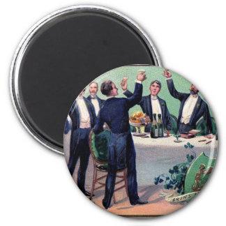 Original Saint patrick's day drink vintage poster 2 Inch Round Magnet