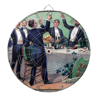 Original Saint patrick's day drink vintage poster Dartboard