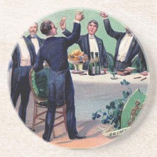 Original Saint patrick's day drink vintage poster Drink Coasters