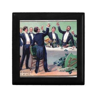 Original Saint patrick's day drink vintage poster Gift Box