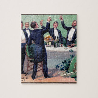 Original Saint patrick's day drink vintage poster Jigsaw Puzzle