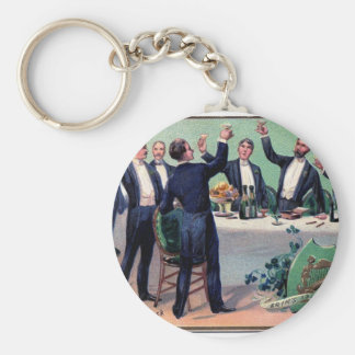 Original Saint patrick's day drink vintage poster Keychain