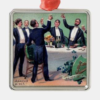 Original Saint patrick's day drink vintage poster Metal Ornament