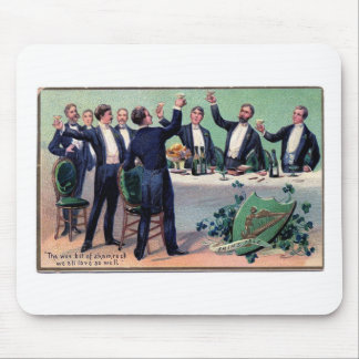 Original Saint patrick's day drink vintage poster Mouse Pad