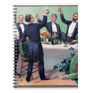 Original Saint patrick's day drink vintage poster Notebook