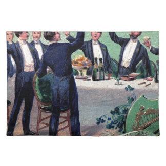 Original Saint patrick's day drink vintage poster Placemat