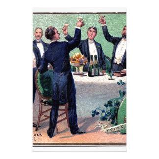 Original Saint patrick's day drink vintage poster Stationery