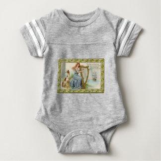 Original Saint patrick's day harp & lady Baby Bodysuit