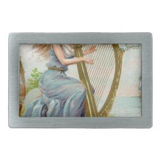 Original Saint patrick's day harp & lady Belt Buckles