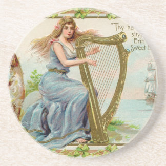 Original Saint patrick's day harp & lady Coaster