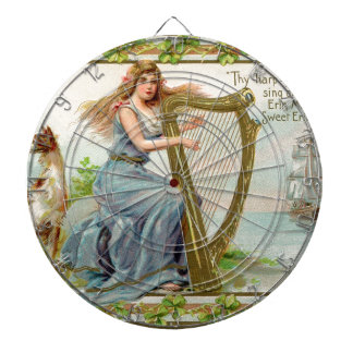 Original Saint patrick's day harp & lady Dartboard