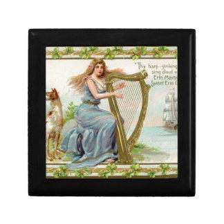 Original Saint patrick's day harp & lady Gift Box