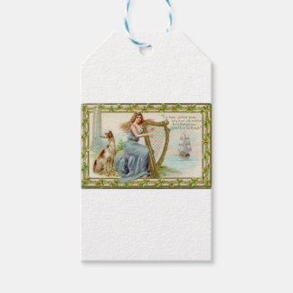 Original Saint patrick's day harp & lady Gift Tags