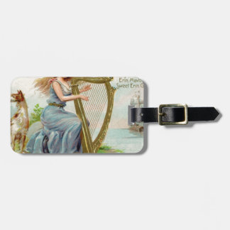 Original Saint patrick's day harp & lady Luggage Tag