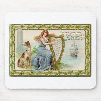 Original Saint patrick's day harp & lady Mouse Pad