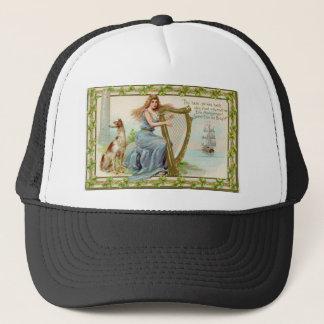Original Saint patrick's day harp & lady Trucker Hat