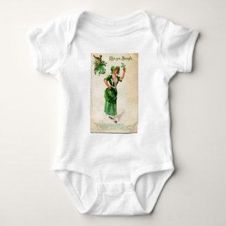 Original Saint patrick's day lady in green Baby Bodysuit