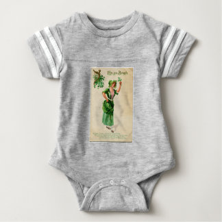 Original Saint patrick's day lady in green Baby Bodysuit