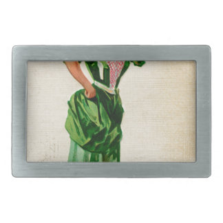 Original Saint patrick's day lady in green Belt Buckles